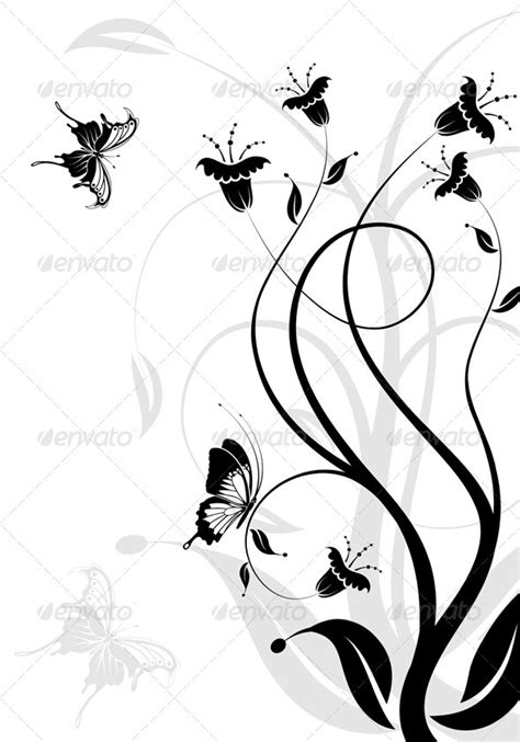 43785 Black Flower Graffiti Blouse Blouse Hitam floral background by talex graphicriver