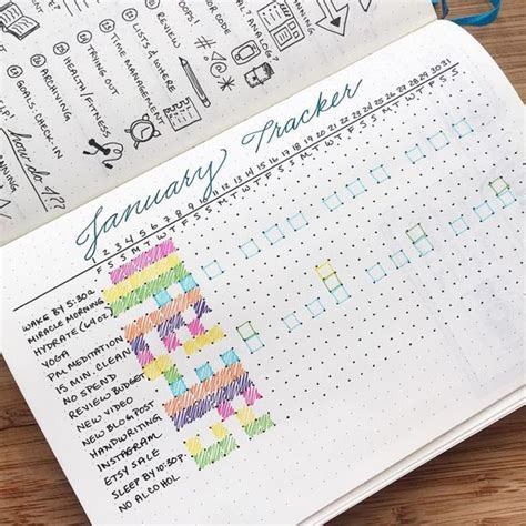 bullet journal habit trackers productive pretty