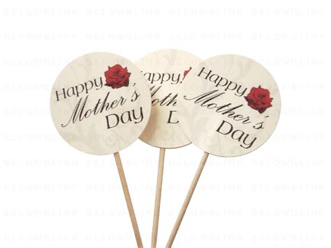 s day picks 10 happy s day cupcake toppers food picks