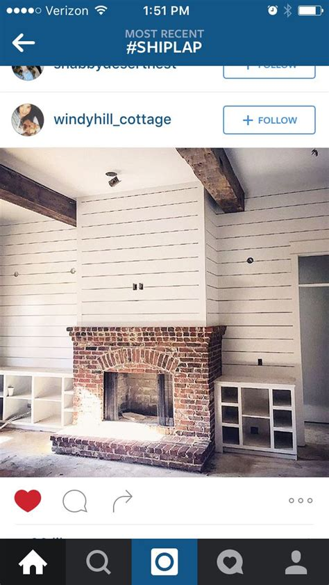 shiplap over concrete 1000 ideas about off center fireplace on pinterest