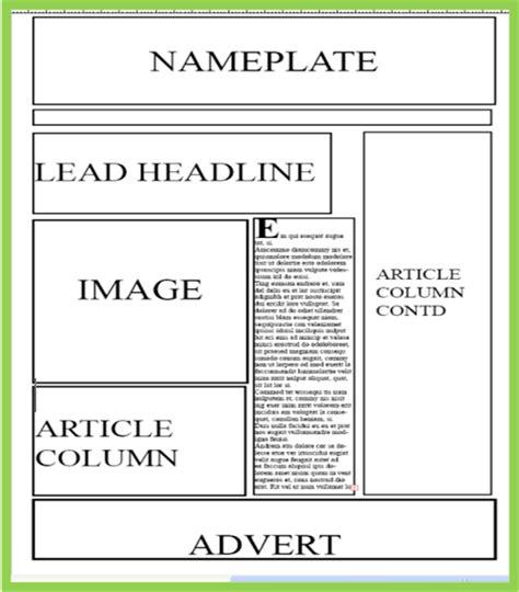 newspaper layout html code a2 media local newspaper newspaper layout ideas final