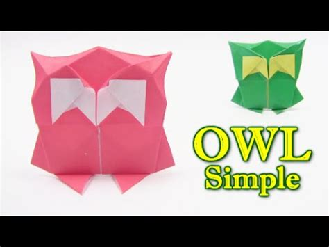Simple Origami Owl - how to make a origami sparrow funnycat tv