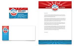 political candidate business card amp letterhead template design
