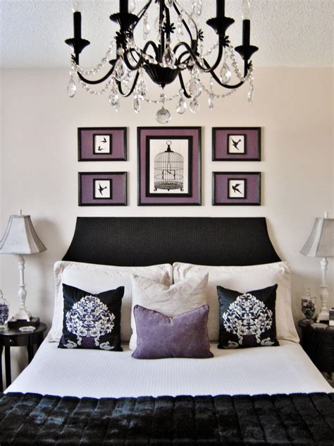 black white and purple bedroom photos hgtv