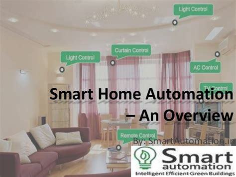 smart home automation an overview