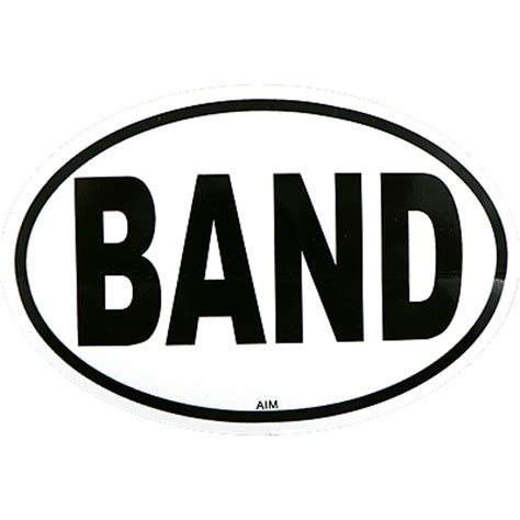 Unique Christmas Gifts by Music Gifts Misc Band Oval Decal