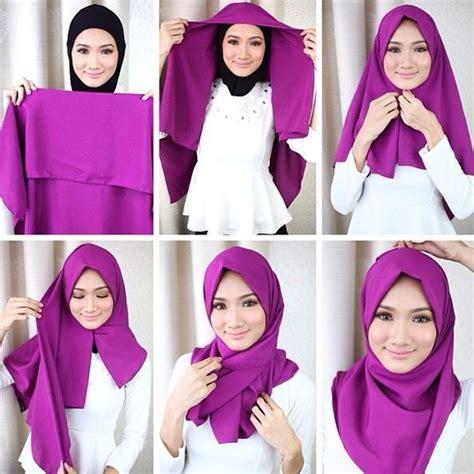 tutorial hijab segi empat zoya untuk pesta tutorial cara berhijab segi empat simpel dan mudah
