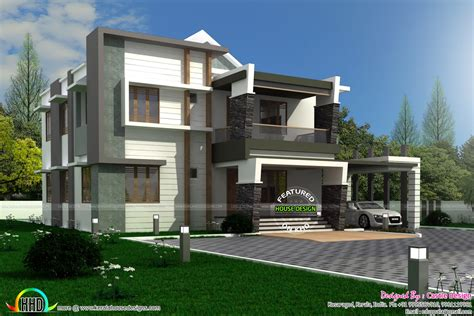 400 yard home design modern contemporary home 400 sq yards kerala home design