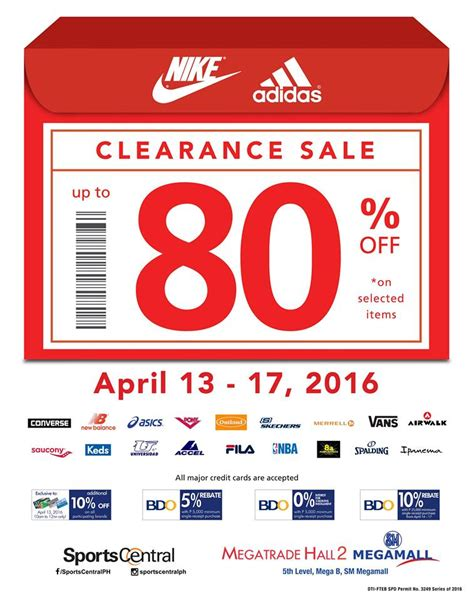 enjoy big discounts at the sports central clearance sale