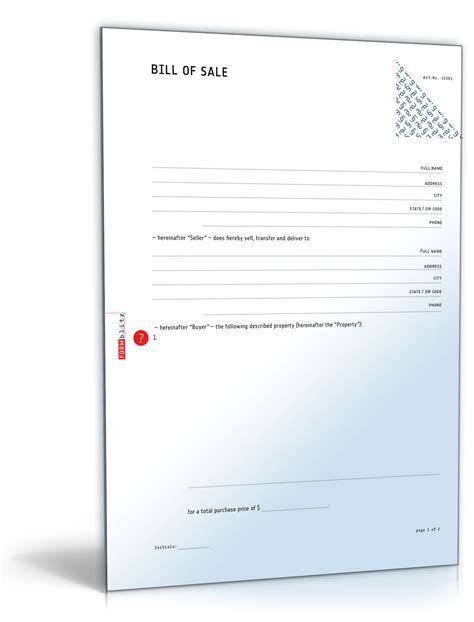 Bewerbung Englisch Sle General Bill Of Sale As Is Template To