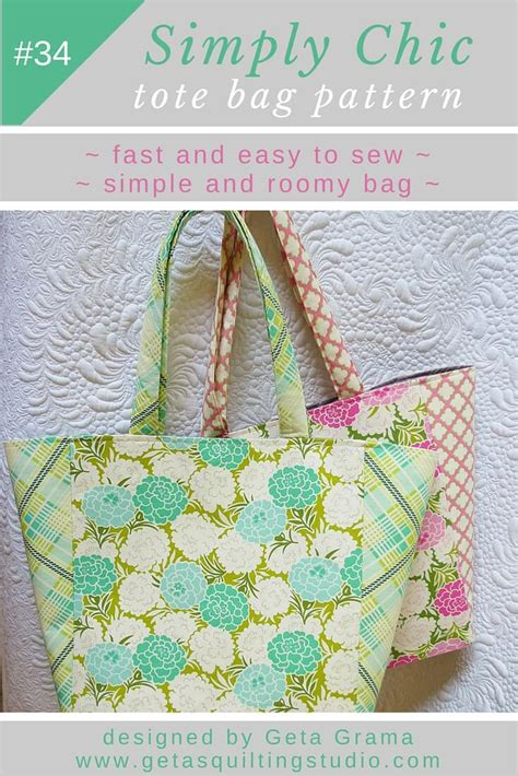 quick tote bag pattern tote bag pattern for a quick easy simple and chic tote bag