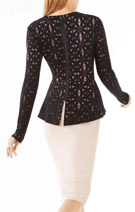 Sleeved Lace Top estelle sleeve lace peplum top