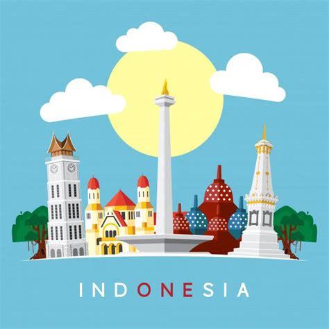 indonesia landmark seni doodle seni indonesia