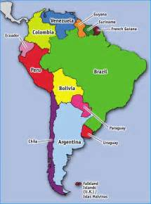 Map Of South America Countries by Discovering South American Countries Travelbackpackbags Com