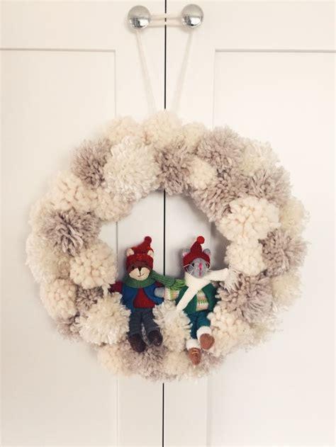 unique pom pom wreath ideas  pinterest making pom poms pom poms  pom pom crafts