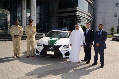 lexus dubai lexus rc f added to dubai police fleet