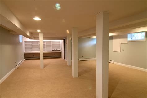 light brown exposed concrete floor basement painting color