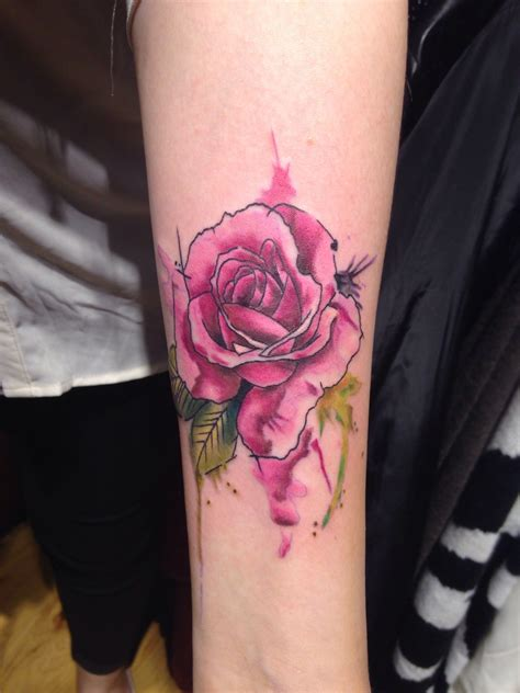 watercolor tattoos rose watercolor ideas