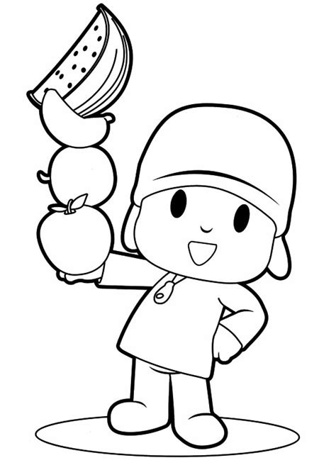 Dibujos de Pocoyo para colorear e imprimir, Pocoyó para