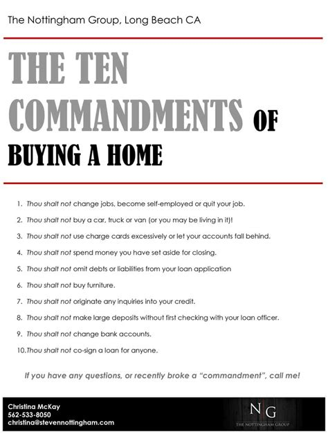 what to consider when buying a home the ten commandments of buying a home real estate trends