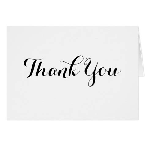 thank you note card template black calligraphy thank you note card template zazzle