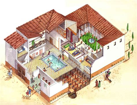 roman style house design roman atrium house plan google search i 그리스의 주거