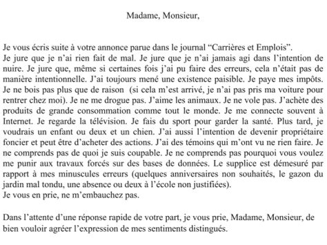 Cv En Franàçais Exemples Gratuits by Lettre De Motivation Exemple Fran 195 167 Ais