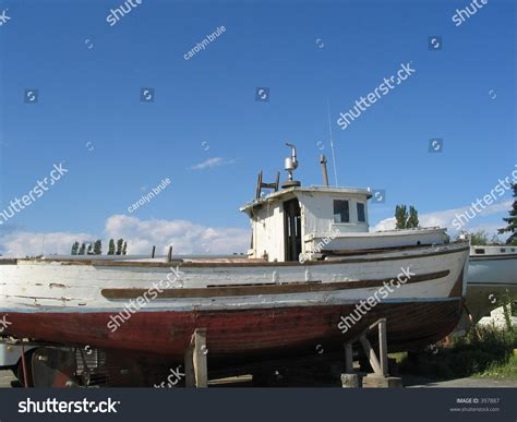 tow boat on dry dock old tug boat on cradle dry stock photo 397887 shutterstock