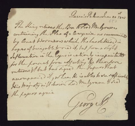 up letter king george letter from king george iii to lord mulgrave 20 june 1805