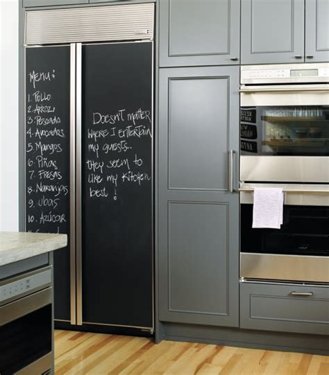 chalkboard paint on fridge diy chalkboard refrigerator panels made easy