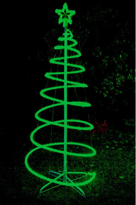 Spiral Tree Led - 120cm green solar led spiral tree rope light