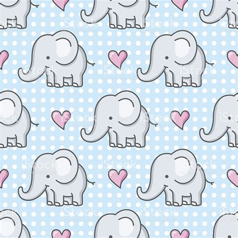 pattern elephant background baby elephant seamless pattern cartoon stock vector art