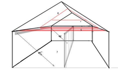 garage with leaning wall and sagging roof line