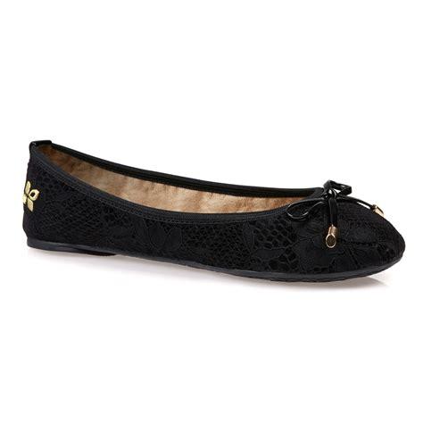 butterfly twists ballerina shoe in black lyst