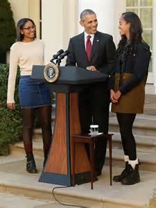 models the 2015 white house turkey pardon 2015 what malia and sasha obama were