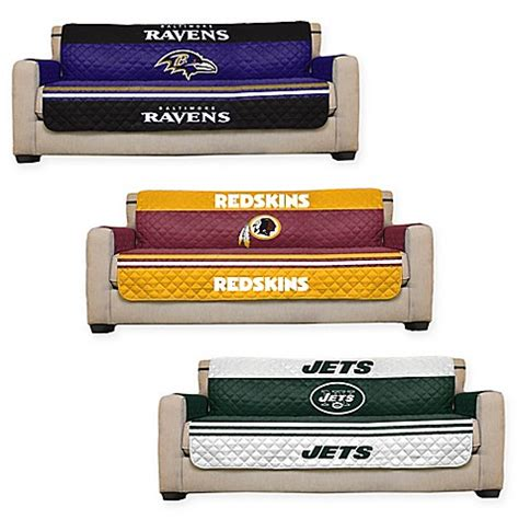 nfl couch nfl sofa cover bed bath beyond