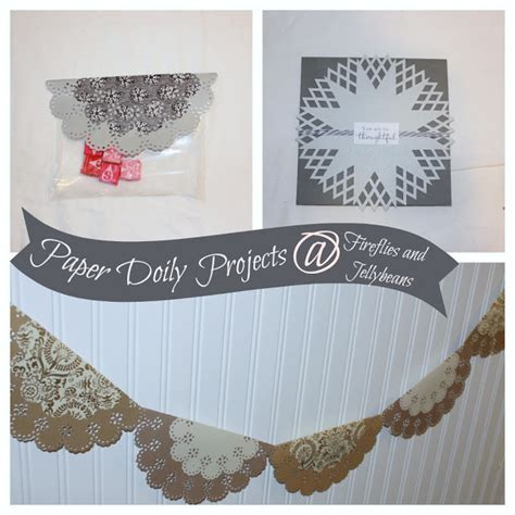 Crafts With Paper Doilies - fireflies and jellybeans paper doily crafts
