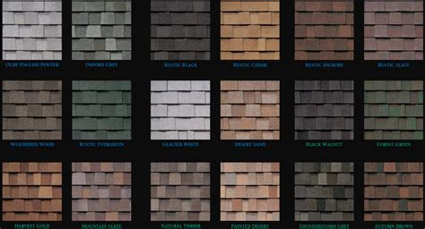 architectural shingles colors windows