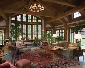 Log Home Interiors Images restored tradition timber frame home great room