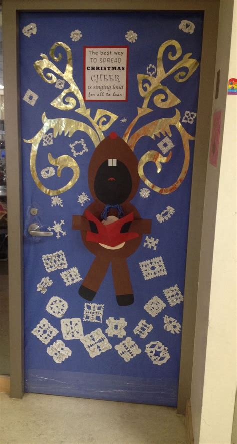 christmas door decoration for school pinterest