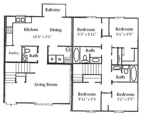 4 Bedroom Architectural Floor Plans   Home Design