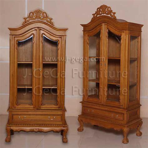 Lemari 5 Laci Cabinet lemari pajangan chippendale 2 laci kayu jati by j gega