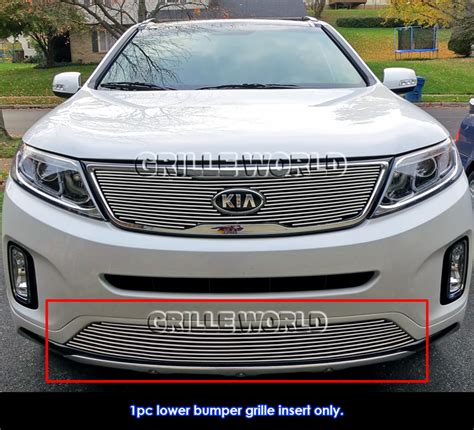 Kia Bumper Fits 2014 2015 Kia Sorento Bumper Billet Grille Insert Ebay