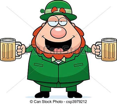 imagenes graciosas de borrachos en caricatura ilustraciones de vectores de leprechaun borracho a