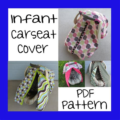 auto car seat cover sewing pattern infant car seat cover pdf pattern sew your own