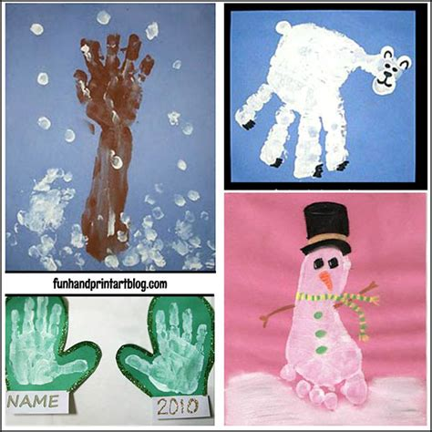 january arts and crafts for winter handprint footprint handprint