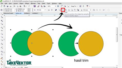 Fungsi Layout Dalam Coreldraw | memahami fungsi shaping dalam coreldraw takevektor