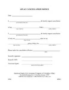 Disability Policy Template by Aflac Cancellation Form Fill Printable Fillable