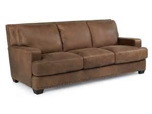 Flexsteel Leather Sofa Flexsteel Living Room Leather Sofa 1324 31 Brownlee S Furniture Lawrenceville Ga
