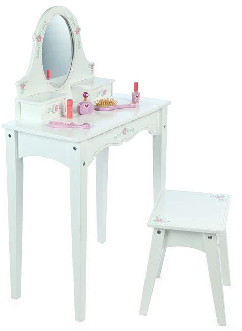Wooden Dressing Table Stool by White Wooden Dressing Table Stool
